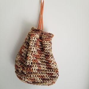 Jumbo woven Straw backpack/ Shoulder bag